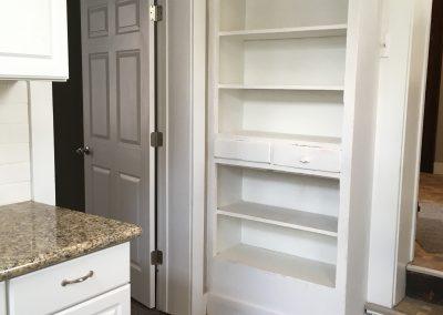 East kitchen with storage